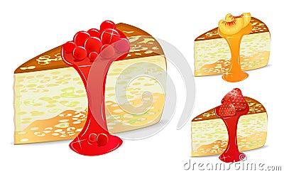 Berry cake set