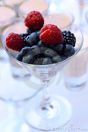 Berry dessert in glass