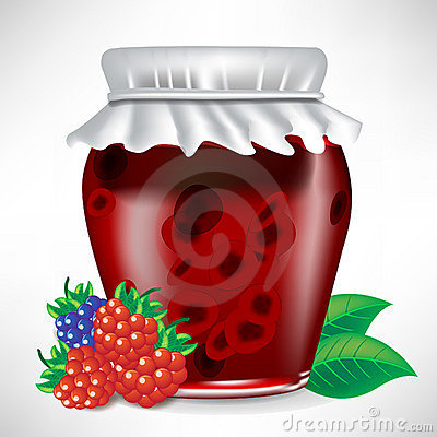 Berry jar of jam