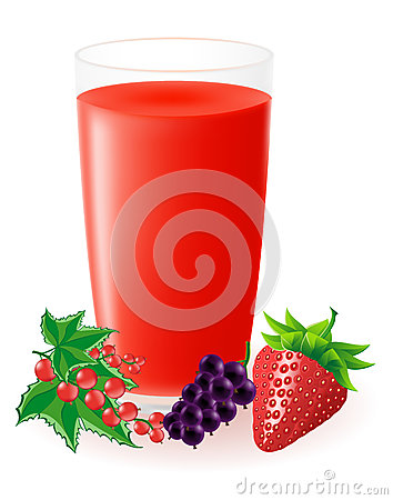 Berry juice vector illustration