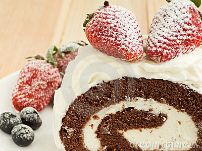 Berry roulade