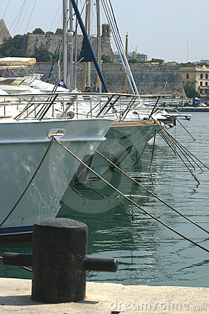 Berthed Yachts