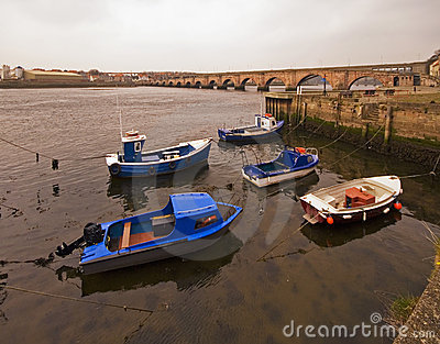 Berwick Bridge and River Tweed