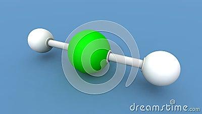 Beryllium hydride molecule