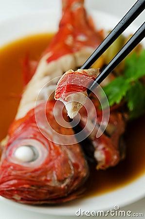 Beryx in soy sauce