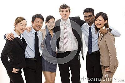 Überzeugtes Geschäfts-Team 4