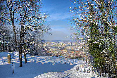 Besancon in winter