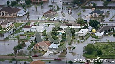 Beschreibung der Überschwemmung nach einem Hurrikan