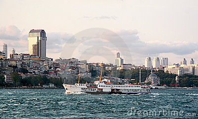 Besiktas on Bosporus