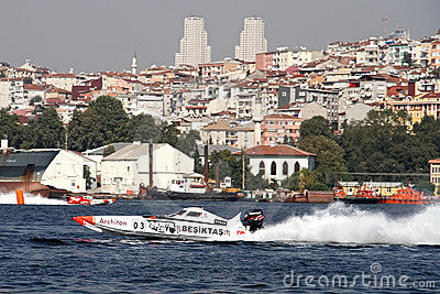 BESIKTAS Speed boat Editorial Stock Image