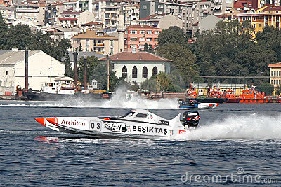 BESIKTAS team on the race Editorial Photo