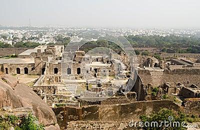 Fördärvar av Golcanda, Indien