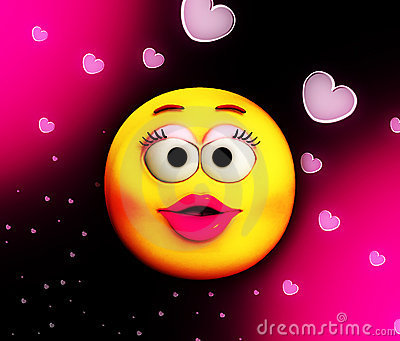 Beso de la historieta del amor