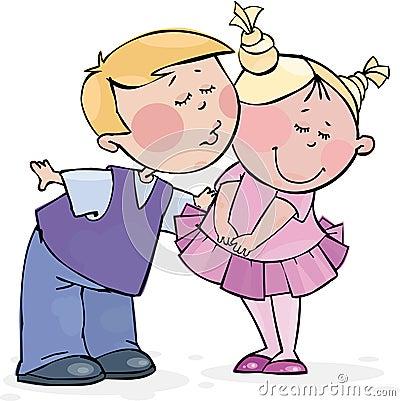 Beso de la tarjeta del día de San Valentín