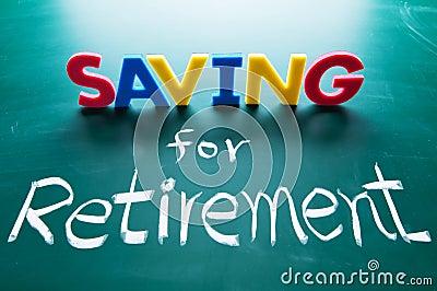 Besparing voor pensioneringsconcept