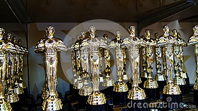 Best Actor Award Prize Trophies on Display Editorial Stock Image