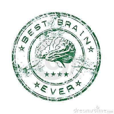 Free Best Brain Rubber Stamp Stock Photography - 8606642