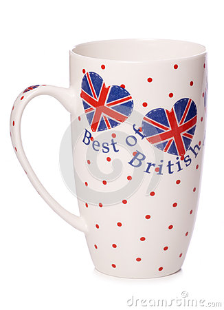 Best of british tea cup cutout