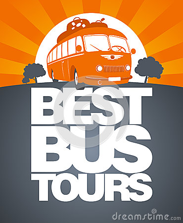 Free Best Bus Tour Design Template. Royalty Free Stock Photography - 25530487