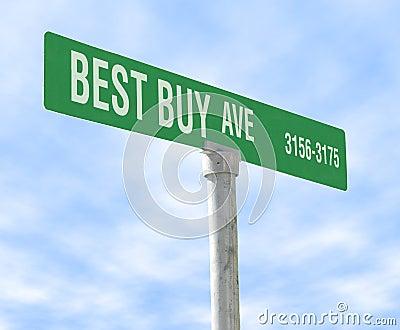 Best Buy Themed Street Sign