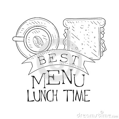 best cafe lunch menu promo sign sketch style sandwich coffee design label black white template monochrome hand 87398250 best cafe lunch menu promo sign in sketch style with sandwich and on sandwich label template