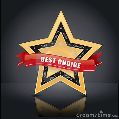 Best choice, gold star emblem