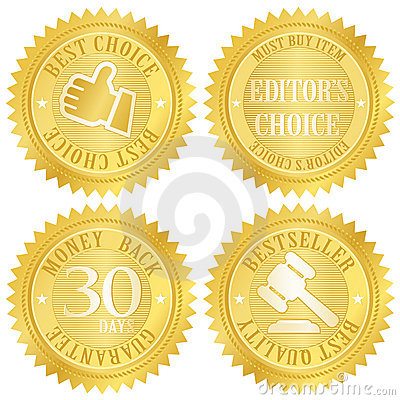 Free Best Choice Golden Label Royalty Free Stock Photos - 8944838