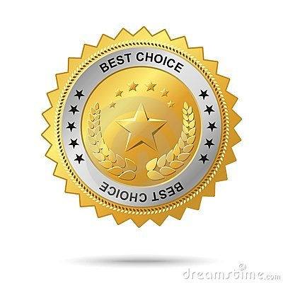 Best Choice Golden Label. Royalty Free Stock Images - Image: 9853139