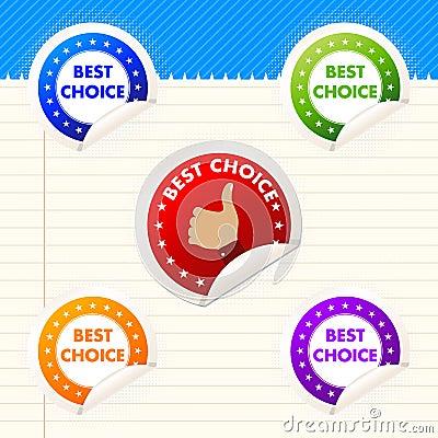 Best choice stickers