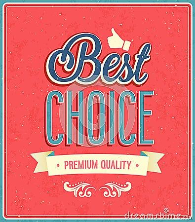 Best choice typographic design.