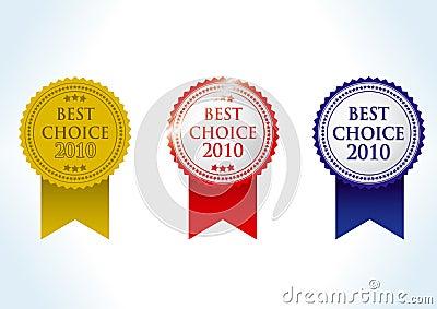 Best choise 2010 award medal