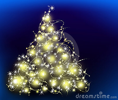 The best Christmas tree background with reflection