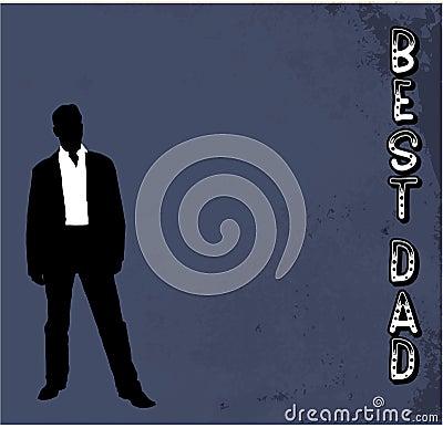 Best Dad grunge vector background