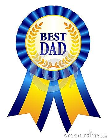 Best Dad Ribbon Rosette Stock Vector - Image: 39006053