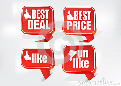 Best Deal Best Price and Like Tags