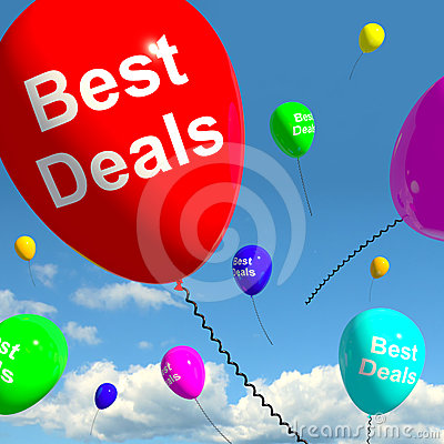Best Deals Balloons Representing Bargains