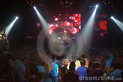 The best DJ nightclub party people Ibiza Editorial Photography