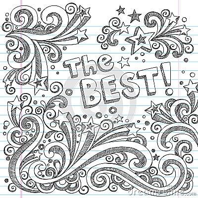 The Best Doodle Sketch School School Style Vector