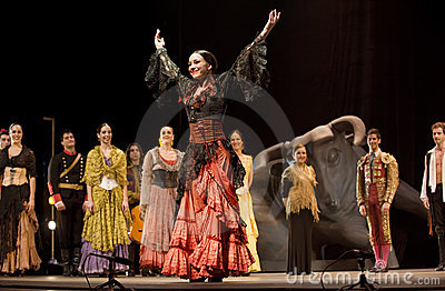 The best Flamenco Dance Drama : Carmen Editorial Photography