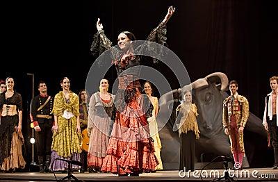 The best Flamenco Dance Drama : Carmen Editorial Photography