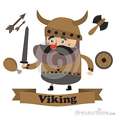 Free Best Flat Viking Royalty Free Stock Images - 64081259