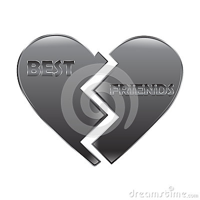 Free Best Friend Heart Royalty Free Stock Images - 29990839