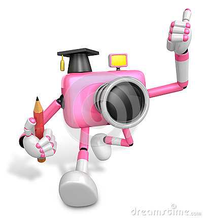 The best gesture of the right hand is taking Master Pink Camera