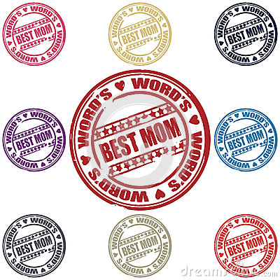 Best Mom set of stamps