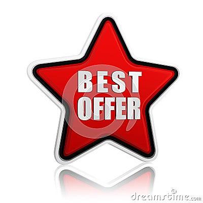 Best offer star button