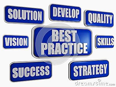 Best practice - blue business concept