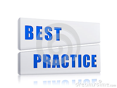 Best practice in white blocks