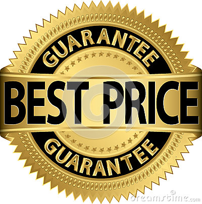 Free Best Price Guarantee Golden Label Royalty Free Stock Photo - 28491625