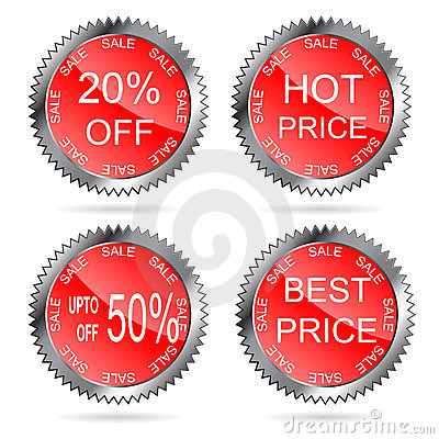 Best price labels set