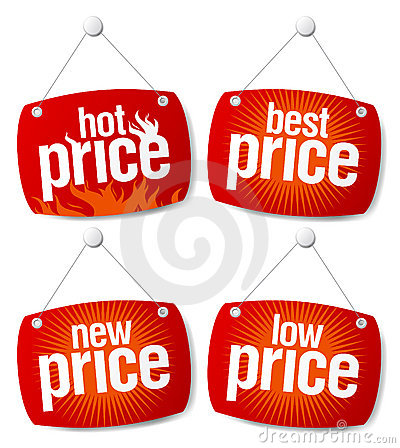 Free Best Price Signs Royalty Free Stock Images - 15290999